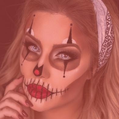 Makes criativas para o halloween por mulher cheirosa