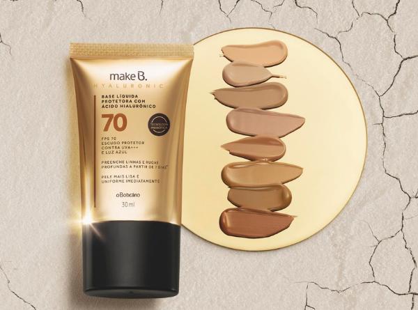 Make B Hyaluronic: tecnologia a favor da beleza em bases e batons